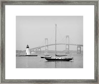 Newport, Rhode Island Serene Harbor Scene Framed Print