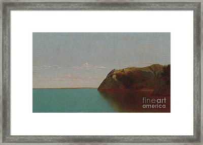 Newport Rocks, 1872 Framed Print