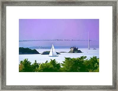 Newport Water Color Effect Framed Print