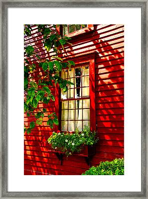 Newport Window Framed Print