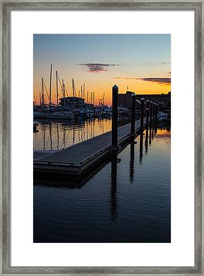 Newports Dusk  Framed Print