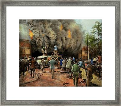 News Reporter - Metrotone News 1928 Framed Print by Mike Savad
