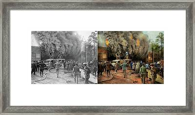 News Reporter - Metrotone News 1928 - Side By Side Framed Print by Mike Savad