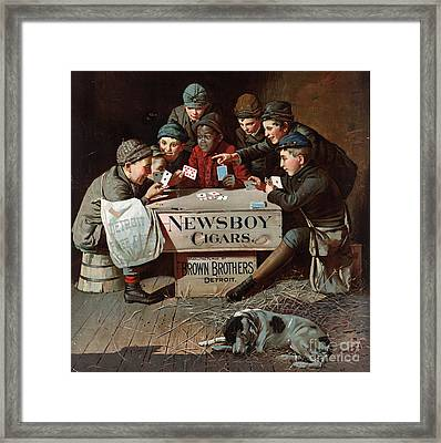 Newsboy Cigars 1894 Framed Print