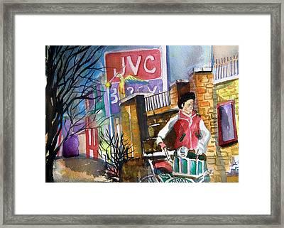 Newspaper Boy Framed Print by Mindy Newman