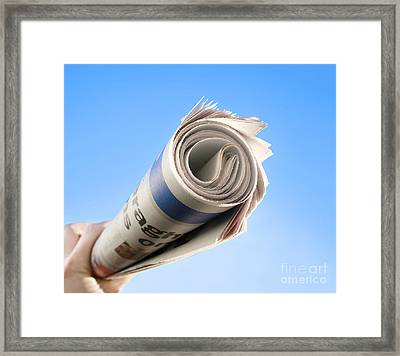 Newspaper Delivery Framed Print by Jorgo Photography - Wall Art Gallery