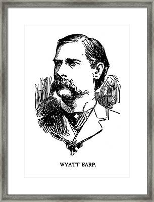 Framed Print featuring the mixed media Newspaper Image Of Wyatt Earp 1896 by Daniel Hagerman