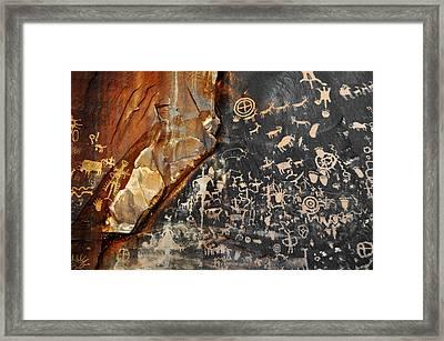 Newspaper Rock Canyonlands Framed Print