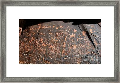 Newspaper Rock Framed Print by David Lee Thompson