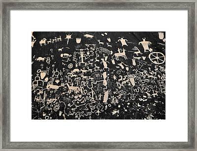 Newspaper Rock Petroglyphs Landscape Framed Print