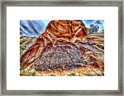 Newspaper Rock Framed Print by Scotts Scapes