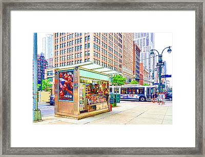Newsstand 1 Framed Print by Lanjee Chee