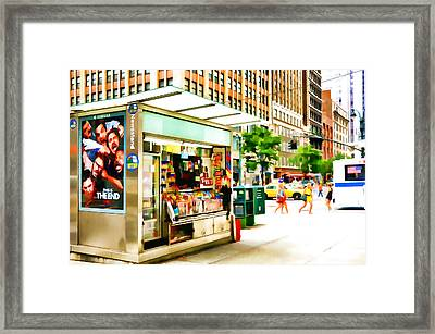 Newsstand Framed Print by Lanjee Chee