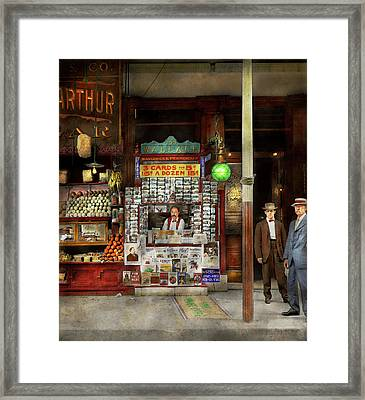 Newsstand - Standing Room Only 1908 Framed Print