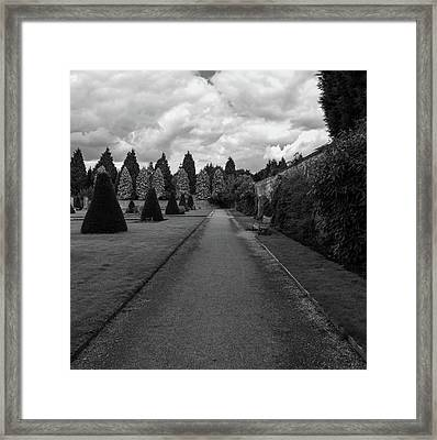 Framed Print featuring the photograph Newstead Abbey Country Garden Gravel Path by Scott Lyons