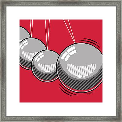 Framed Print featuring the digital art Newton's Cradle by Ron Magnes