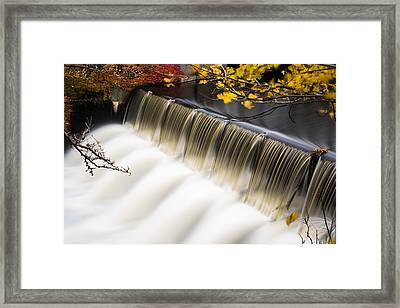 Newton Upper Falls Autumn Waterfall Framed Print by Toby McGuire