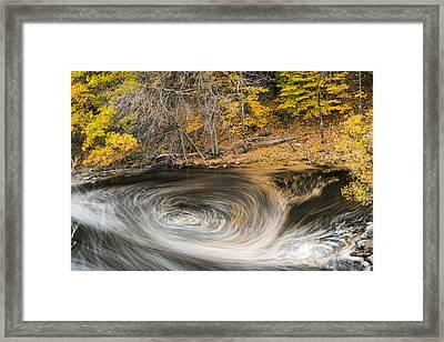 Newton Upper Falls Whirlpool Newton Ma Framed Print by Toby McGuire
