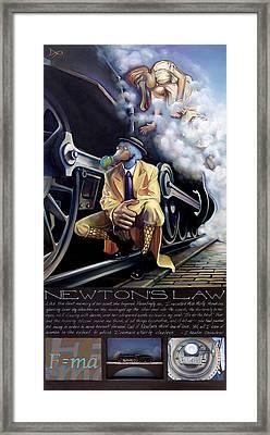 Newton's Law Framed Print