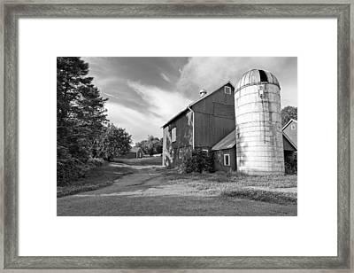 Newtown Barn Bw Framed Print by Bill Wakeley