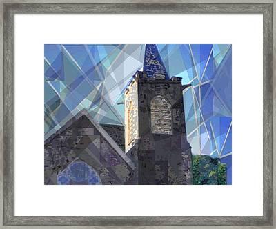Newtown Steeple Framed Print
