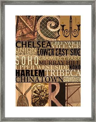 Newyork Neighborhoods Framed Print by Marilu Windvand