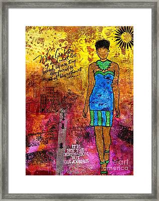 Next Steps Framed Print by Angela L Walker