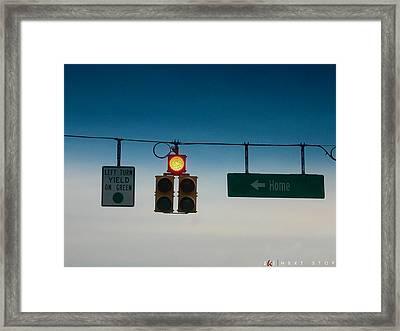 Next Stop Framed Print by Jonathan Ellis Keys