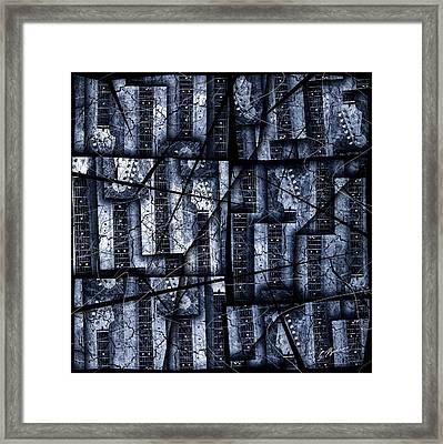 Nexxus 02 Slate Blue Framed Print by Gary Bodnar
