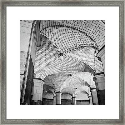 New York Historic Ceiling Framed Print by Mike Burgquist