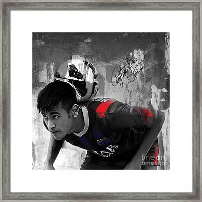 Neymar 02 Framed Print