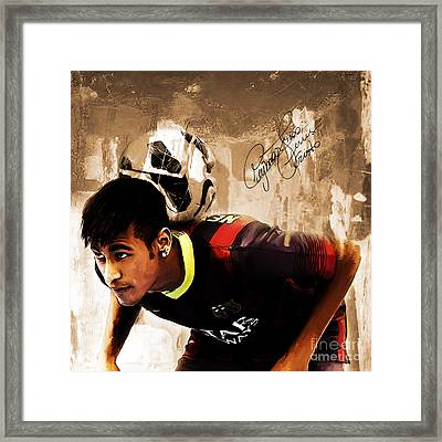 Neymar 02b Framed Print