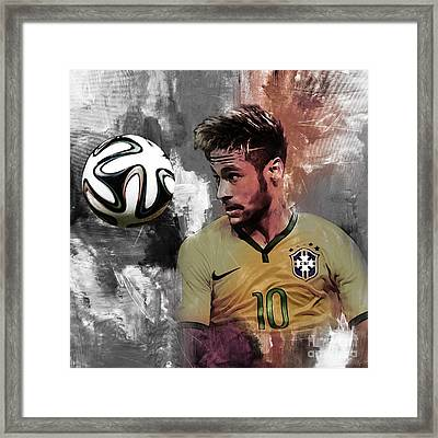 Neymar 051a Framed Print by Gull G