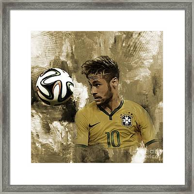 Neymar 05a Framed Print by Gull G