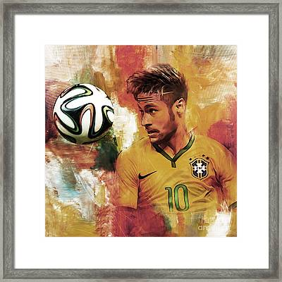 Neymar 05d Framed Print by Gull G