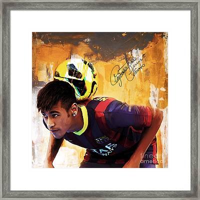 Neymar 1a Framed Print