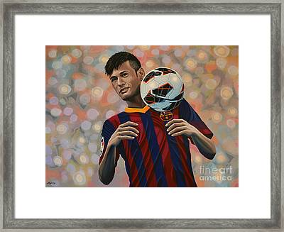 Neymar Framed Print by Paul Meijering