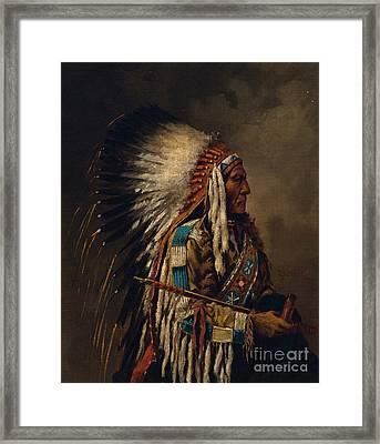 Nez Perce Chief Framed Print