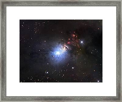 Ngc 1333, A Reflection Nebula And Part Framed Print by Robert Gendler