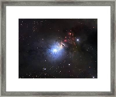 Ngc 1333, A Reflection Nebula And Part Framed Print