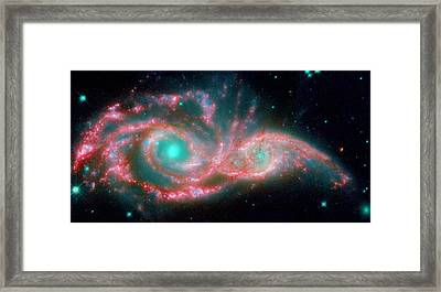 Ngc 2207 And Ic 2163 In The Canis Major Constellation Framed Print