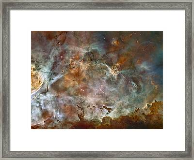 Ngc 3372 Taken By Hubble Space Telescope Framed Print