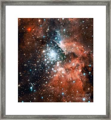 Ngc 3603, Giant Nebula Framed Print by Nasa