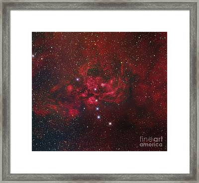 Ngc 6357, The Lobster Nebula Framed Print by Roberto Colombari