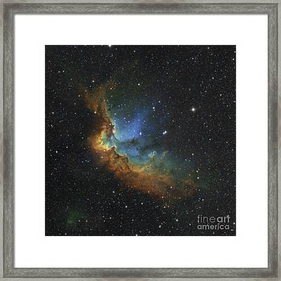 Ngc 7380 In Hubble-palette Colors Framed Print by Rolf Geissinger