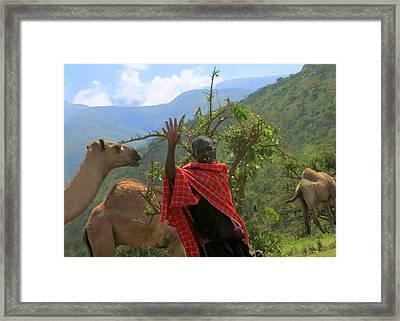 Ngorongoro Herder Framed Print