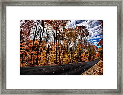 Nh Autumn Road 2 Framed Print