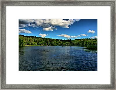 Nh Spring Landscape Tamworth 2 Framed Print by Edward Myers