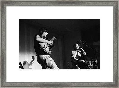 Nhop And Philip Catherine On Stage Framed Print by Philippe Taka