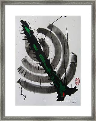 Framed Print featuring the painting Ni Taitoru Mitei by Roberto Prusso
